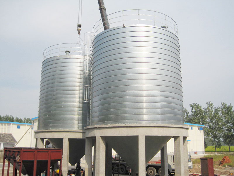 Bidragon spiral silo for food powder storage