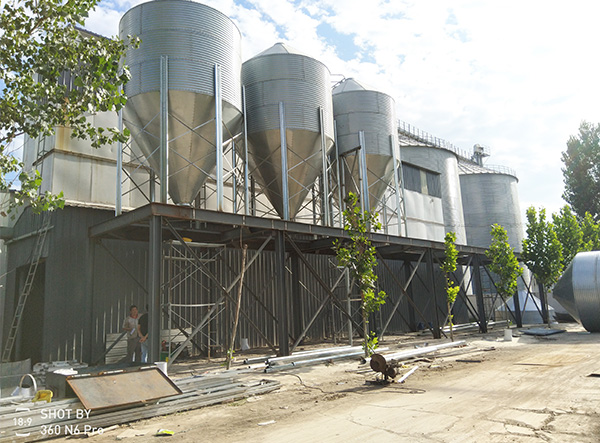 chicken feed silo