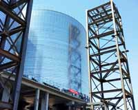 coal storage silo 22*26 with hopper unloading system and conveying system