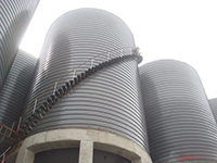 Steel silo for grain flour storage