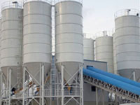 Corrugated steel silo for lime powder storage