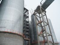 Bidragon steel silo for pellet storage