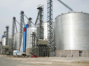 Spiral steel silo for starch powder storage in food field